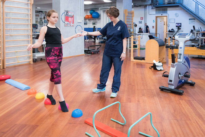 fisioterapia per piede piatto