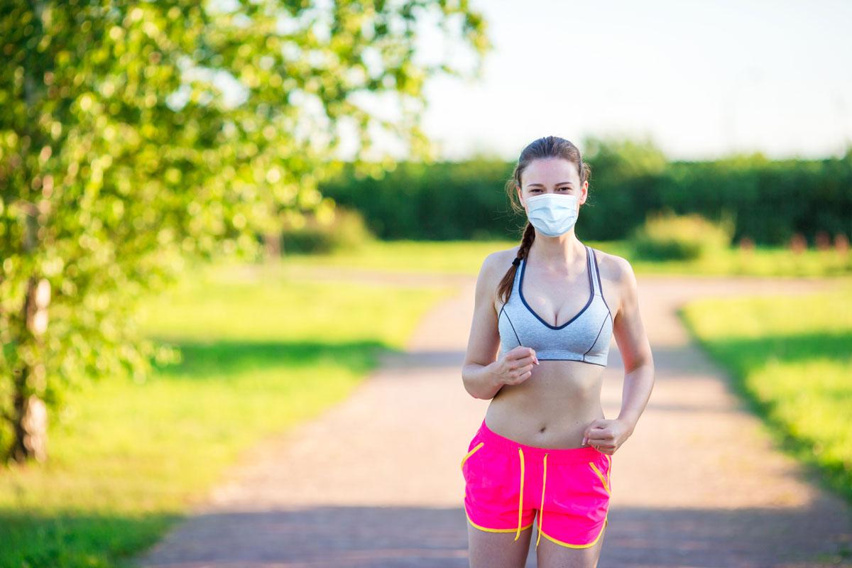 allenamento corsa con mascherina