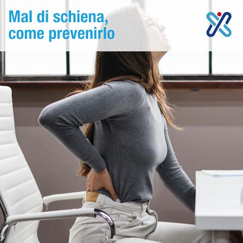 prevenire mal di schiena